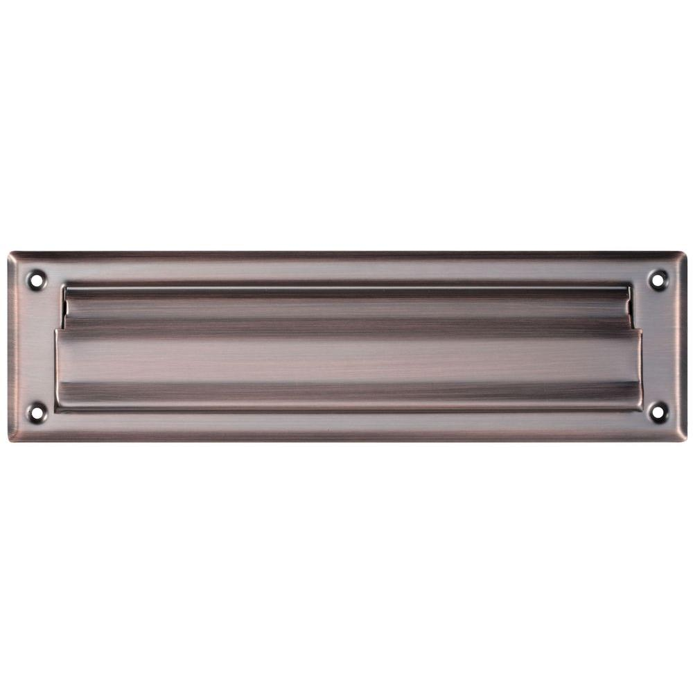 National Hardware 2 in. x 11 in. Mail Slots in Antique Bronze