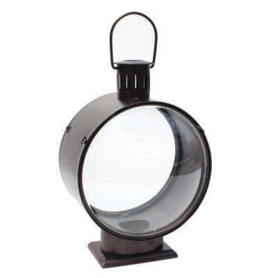 9.4 in. Metal Lantern with Glass
