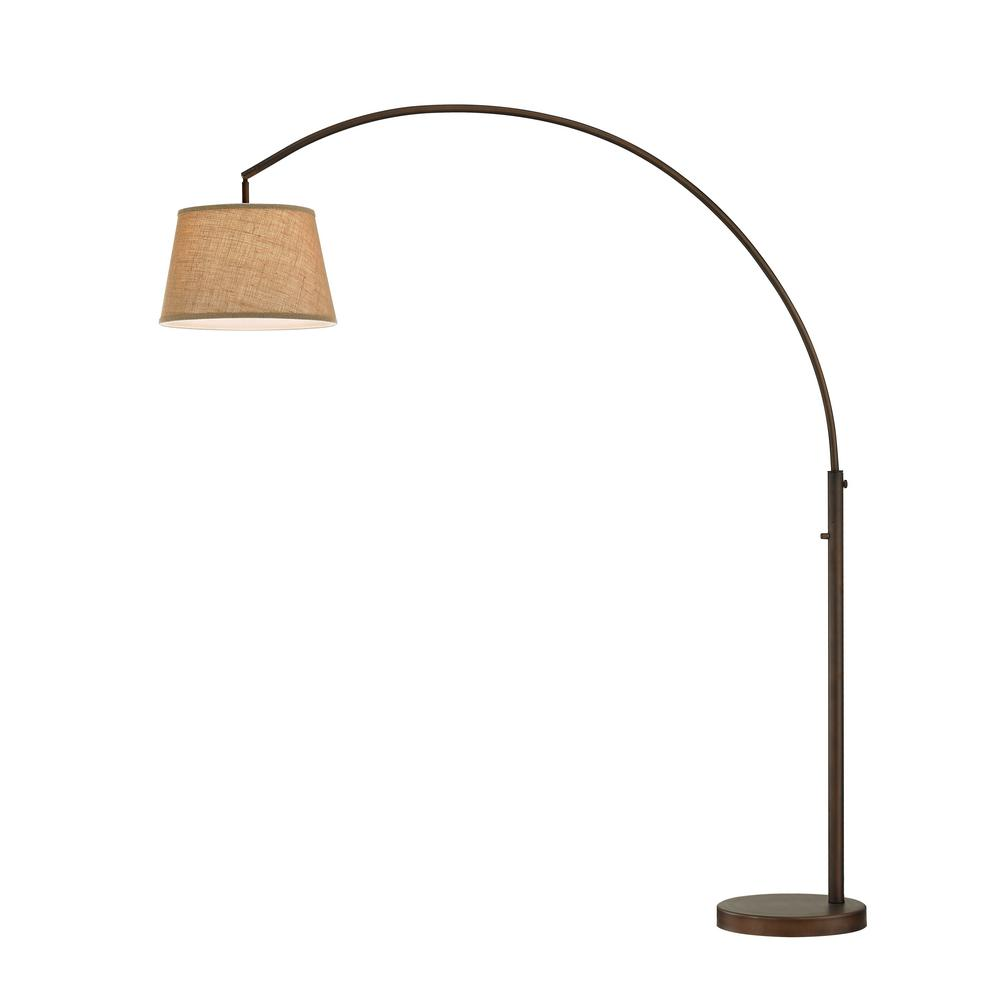 Antique bronze led arch floor lamp with dimmer