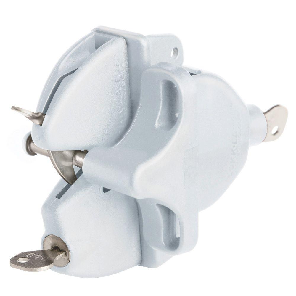 Veranda White Lokk Latch With External Access Kit 125953