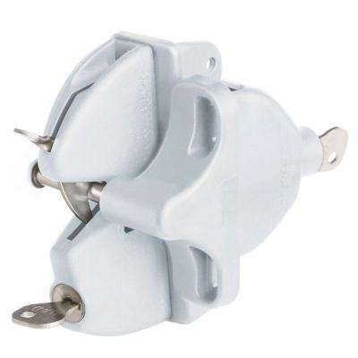 White Lokk Latch with External Access Kit