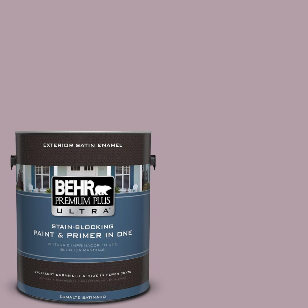 BEHR Premium Plus Ultra 1-gal. #PMD-34 Wild Lilac Satin Enamel Exterior Paint