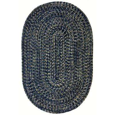 Team Spirit Navy Gold 27 in. x 48 in. Braided Oval Area Rug