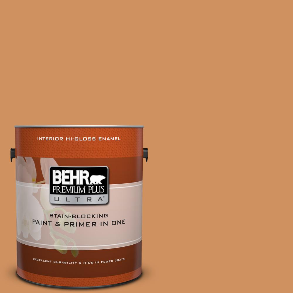 1 gal. #BIC-15 Golden Poppy Hi-Gloss Enamel Interior Paint