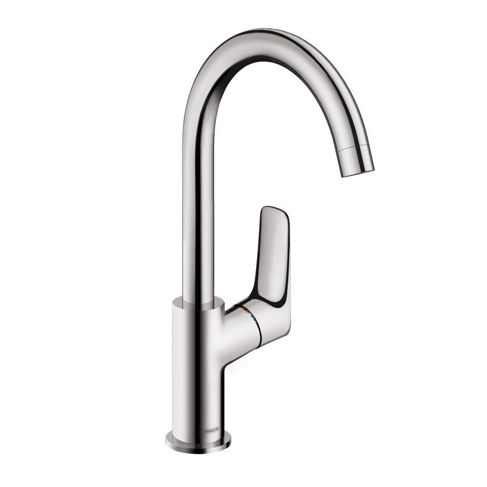 Logis 210 Single Hole Single-Handle Bathroom Faucet with Drain in Chrome