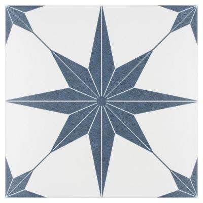 Stella Azul Encaustic 9-3/4 in. x 9-3/4 in. Porcelain Floor and Wall Tile (11.11 sq. ft. / case)