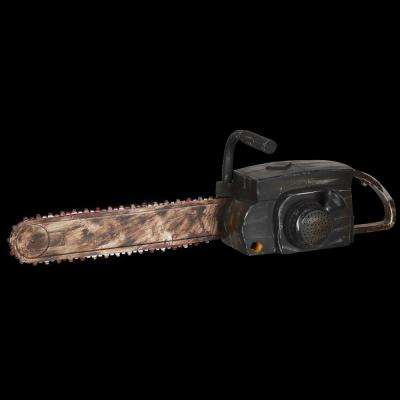 Animated Rusty Chainsaw with Sound and Lights