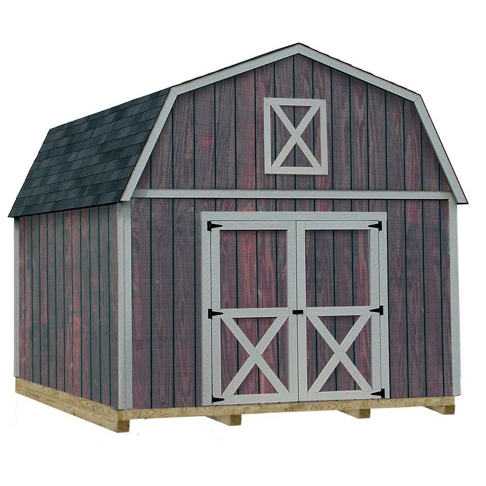 Denver 12 ft. x 16 ft. Wood Storage Shed Kit with