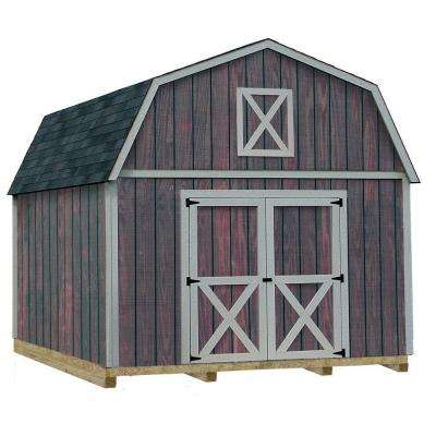 Denver 12 ft. x 20 ft. Wood Storage Shed Kit with Floor Including 4 x 4 Runners