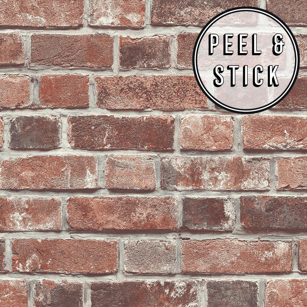 Transform Brick Red Vinyl Peelable Roll (Covers 30.75 sq. ft.)