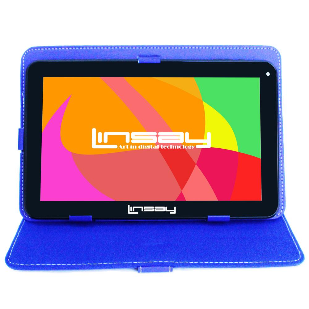 LINSAY 10.1 in. 2GB RAM 16GB Android 9.0 Pie Quad Core Tablet with Blue Case was $179.99 now $84.99 (53.0% off)