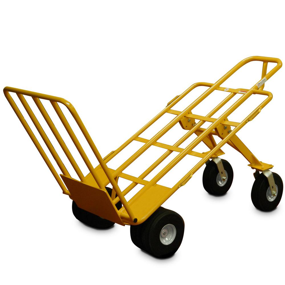 1000 lb. Capacity Extra Large 6-Wheel All-Terrain Hand Truck with Airless