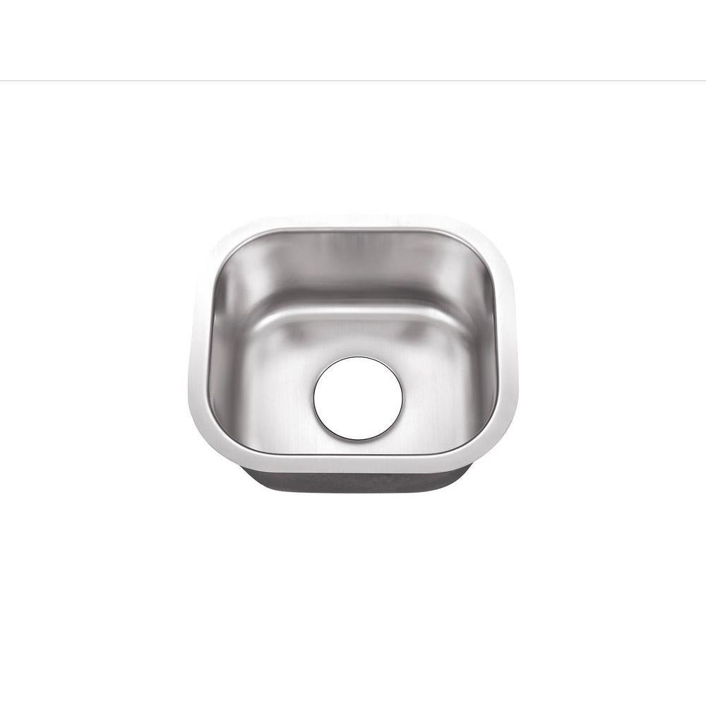 Undermount Stainless Steel 15 in. 0-Hole Single Bowl Kitchen Sink