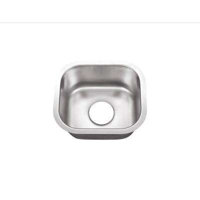 Undermount Stainless Steel 15 in. 0-Hole Single Bowl Kitchen Sink