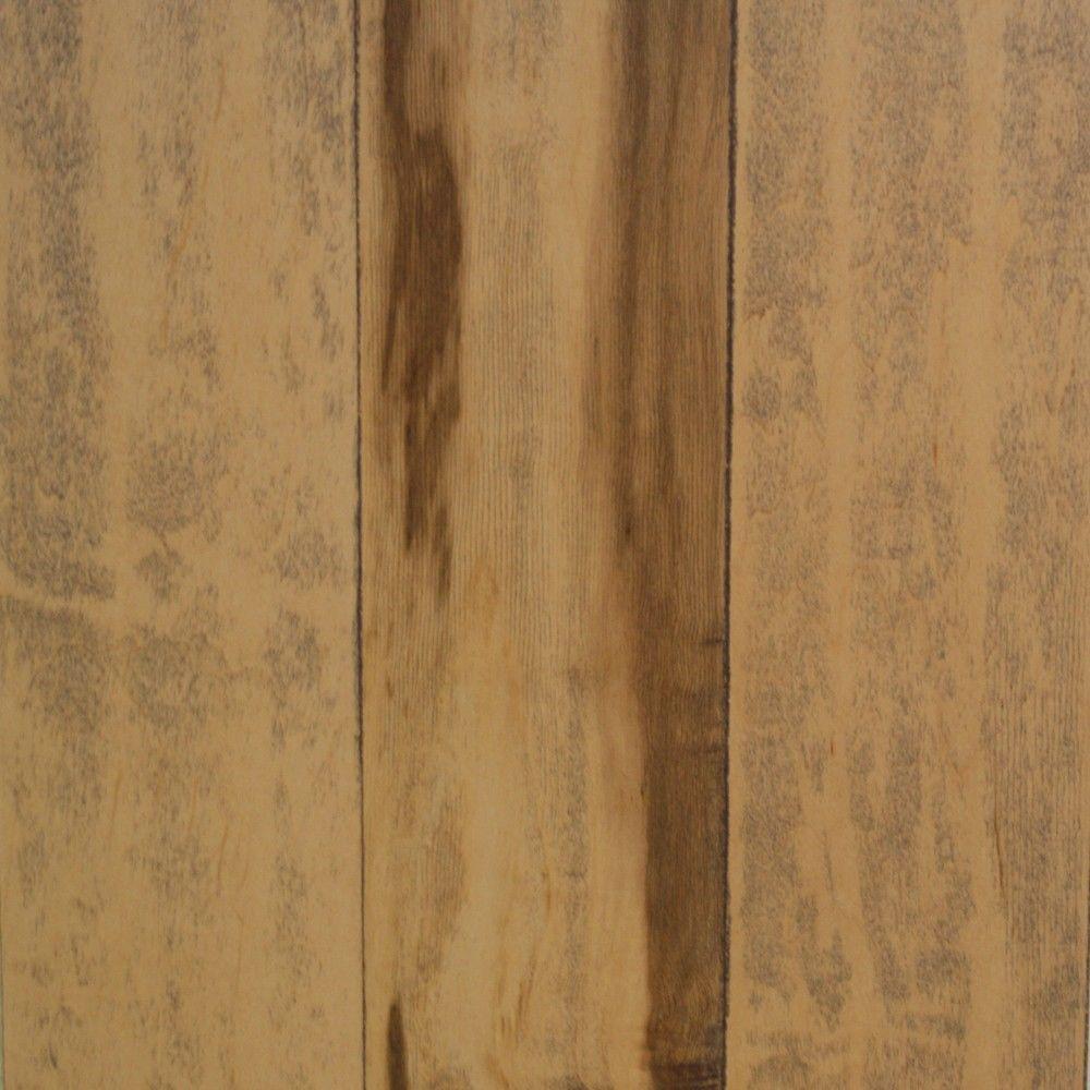 Take Home Sample - Hand Scraped Smoked Maple Natural Engineered Hardwood Flooring - 5 in. x 7 in.