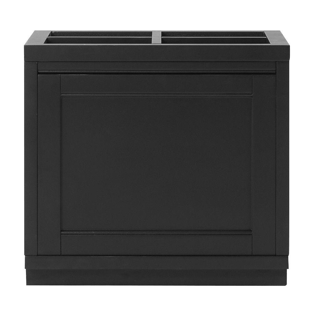 Martha Stewart Living Mudroom 27-Gal. 20 in. x 18.5 in. Storage Bin in Worn Black
