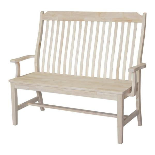 International Concepts Unfinished Bench Be 1: International Concepts Unfinished Bench BE-45A