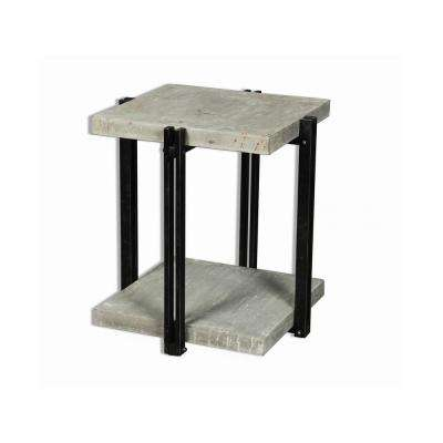 CalceFerro Collection Gray Lamp Table