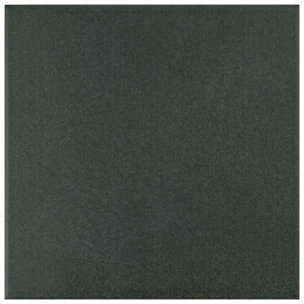 Twenties Black 7-3/4 in. x 7-3/4 in. Ceramic Floor and Wall Tile