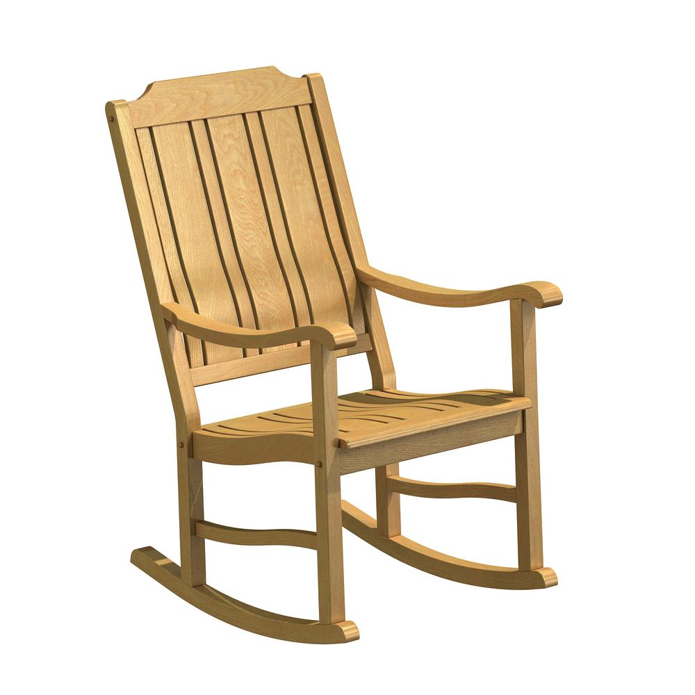Miraculous Natural White Oak Wood Outdoor Rocking Chair Bralicious Painted Fabric Chair Ideas Braliciousco