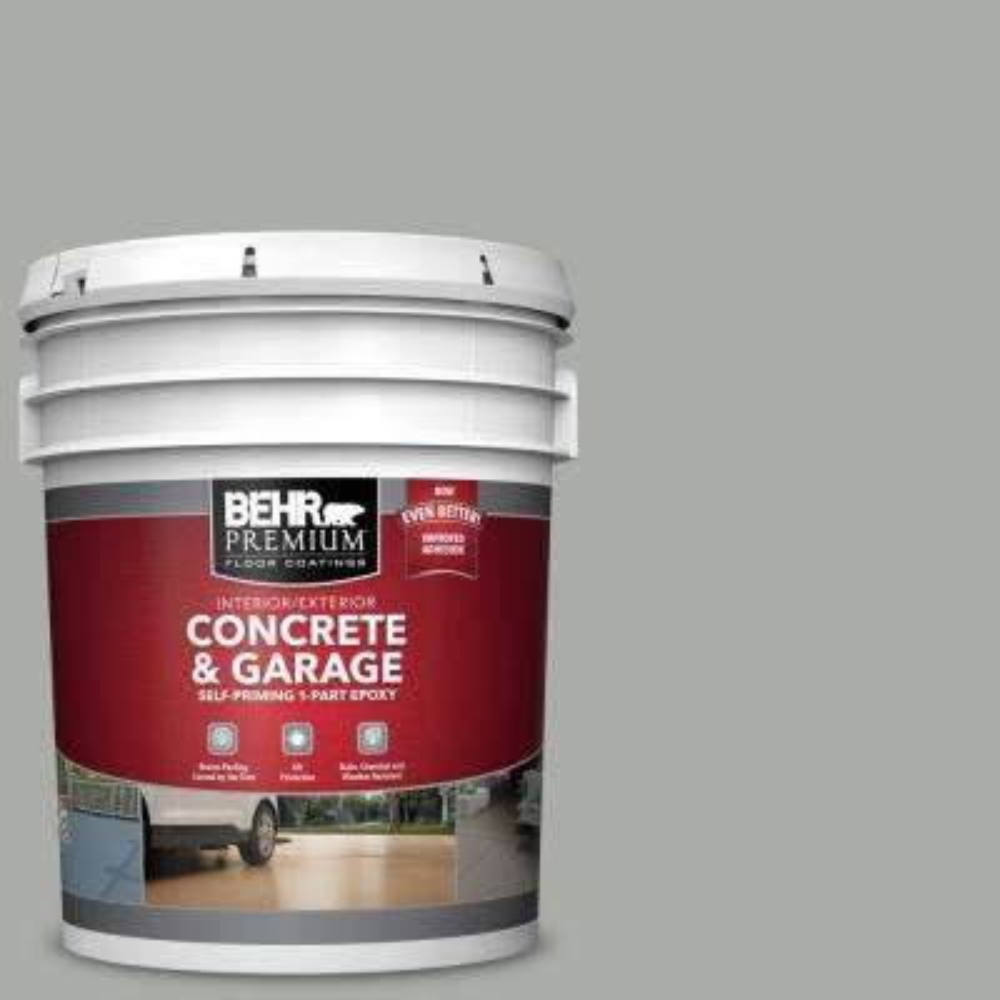 5 gal. #PPF-39 Cool Granite Self-Priming 1-Part Epoxy Satin Interior/Exterior Concrete and Garage Floor Paint