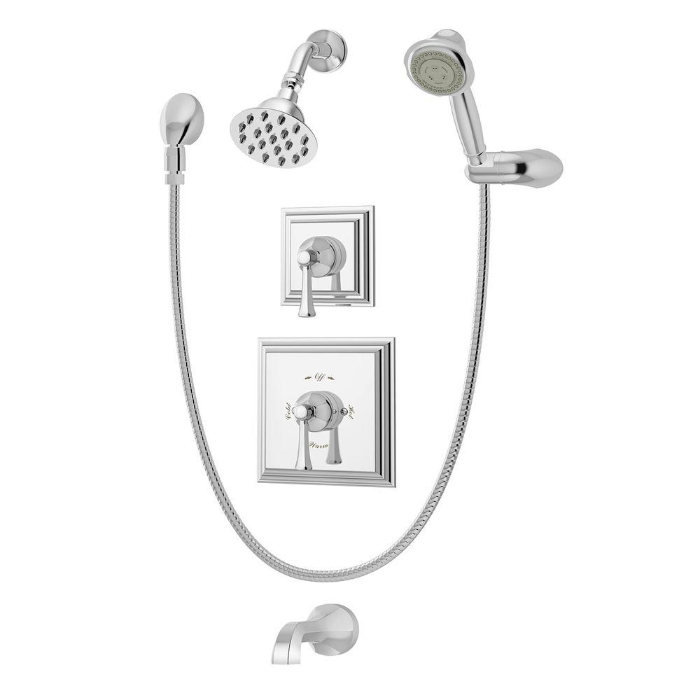bathtub shower faucet combo. Symmons Canterbury Single Handle 1 Spray Tub And Shower Faucet With Hand  System