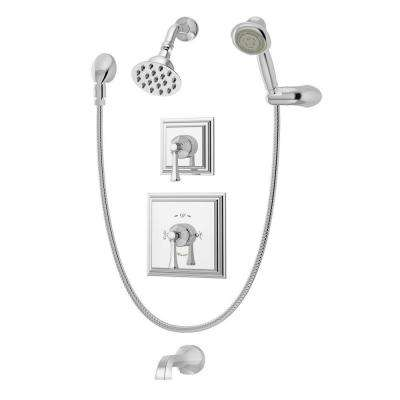 Canterbury Single-Handle 1-Spray Tub and Shower Faucet with Hand Shower System in Chrome
