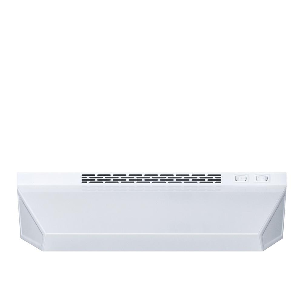 Summit Appliance 24 In Convertible Under Cabinet Range Hood In White Chw24 The Home Depot