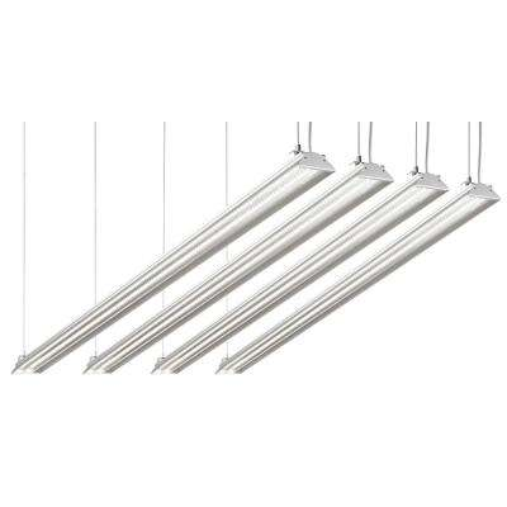 4 ft. 35-Watt (100-Watt Equivalent) Integrated LED Aluminum Shop Light 4000K Clear Cover (4-Pack)