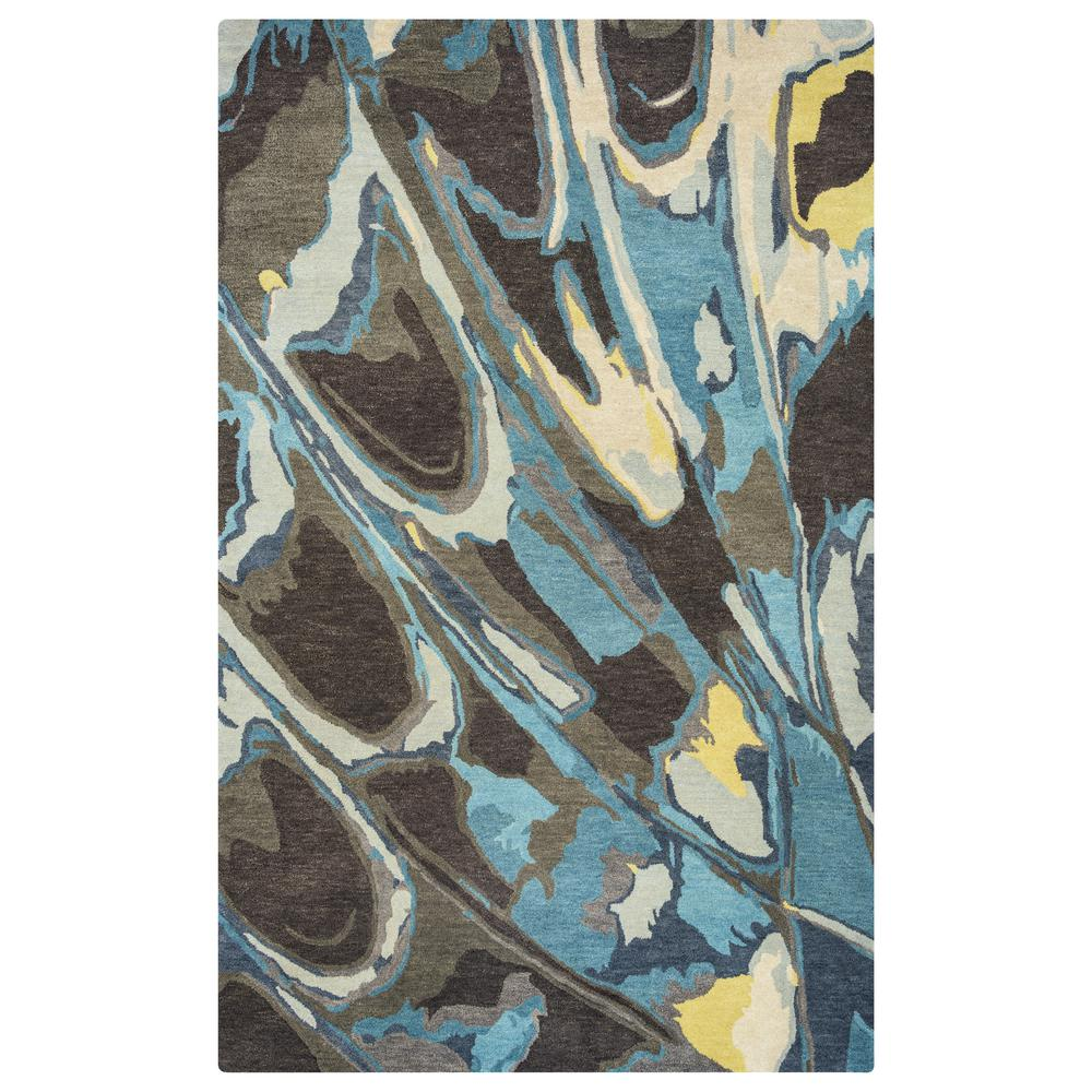 Bradberry Downs Blue Abstract 5 ft. x 8 ft. Area Rug