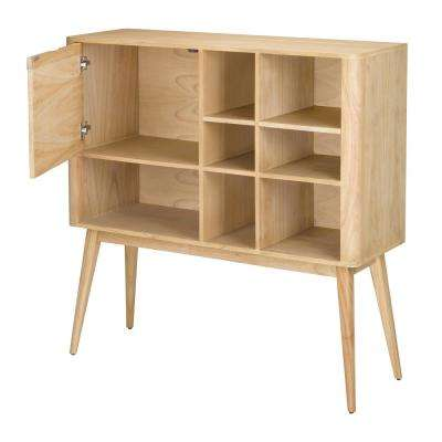Retro Light Natural Woodtone Bookcase