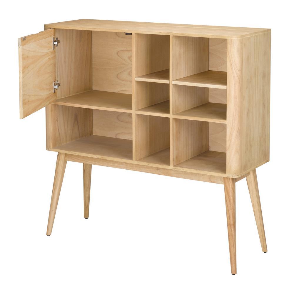 Retro Light Natural Woodtone Bookcase