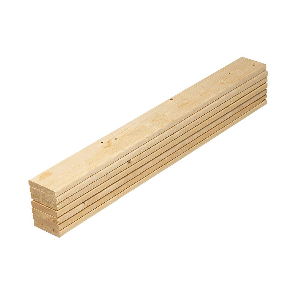 1 in. x 4 in. x 5 ft. Pine Queen Bed Slat Board (7 Pack) 231575