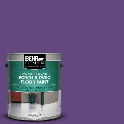 1 gal. Home Decorators Collection #HDC-MD-25 Virtual Violet Low-Lustre Interior/Exterior Porch and Patio Floor Paint