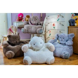Internet #301640283. Gray Plush Kids Elephant Chair