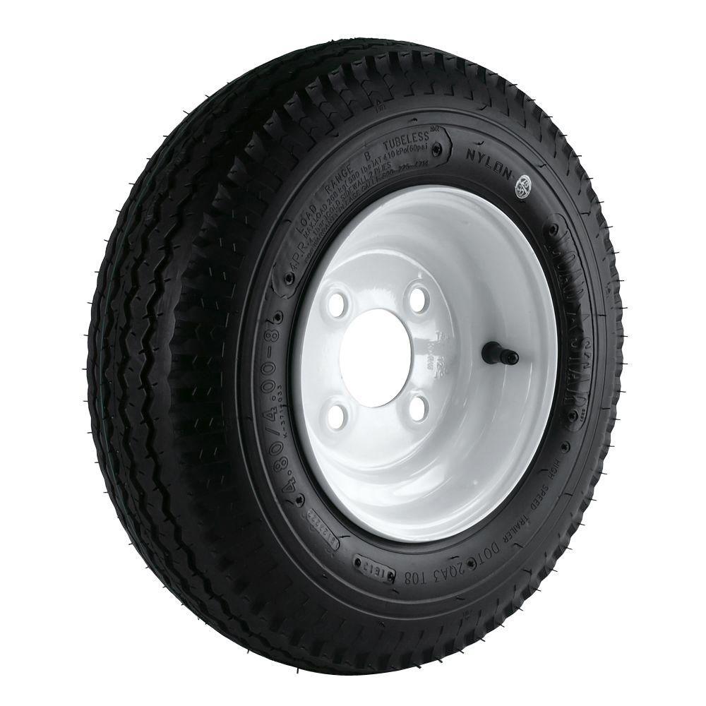 Loadstar 480/400-8 LRB 4-Hole Trailer Wheel