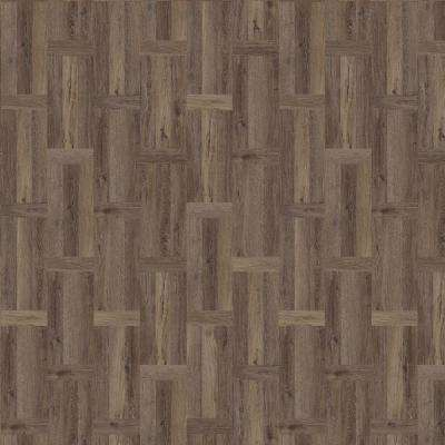 Eaglebrook 11.89 in. x 27.87 in. Parquet Luxury Vinyl Plank Flooring (23 sq. ft. / case)