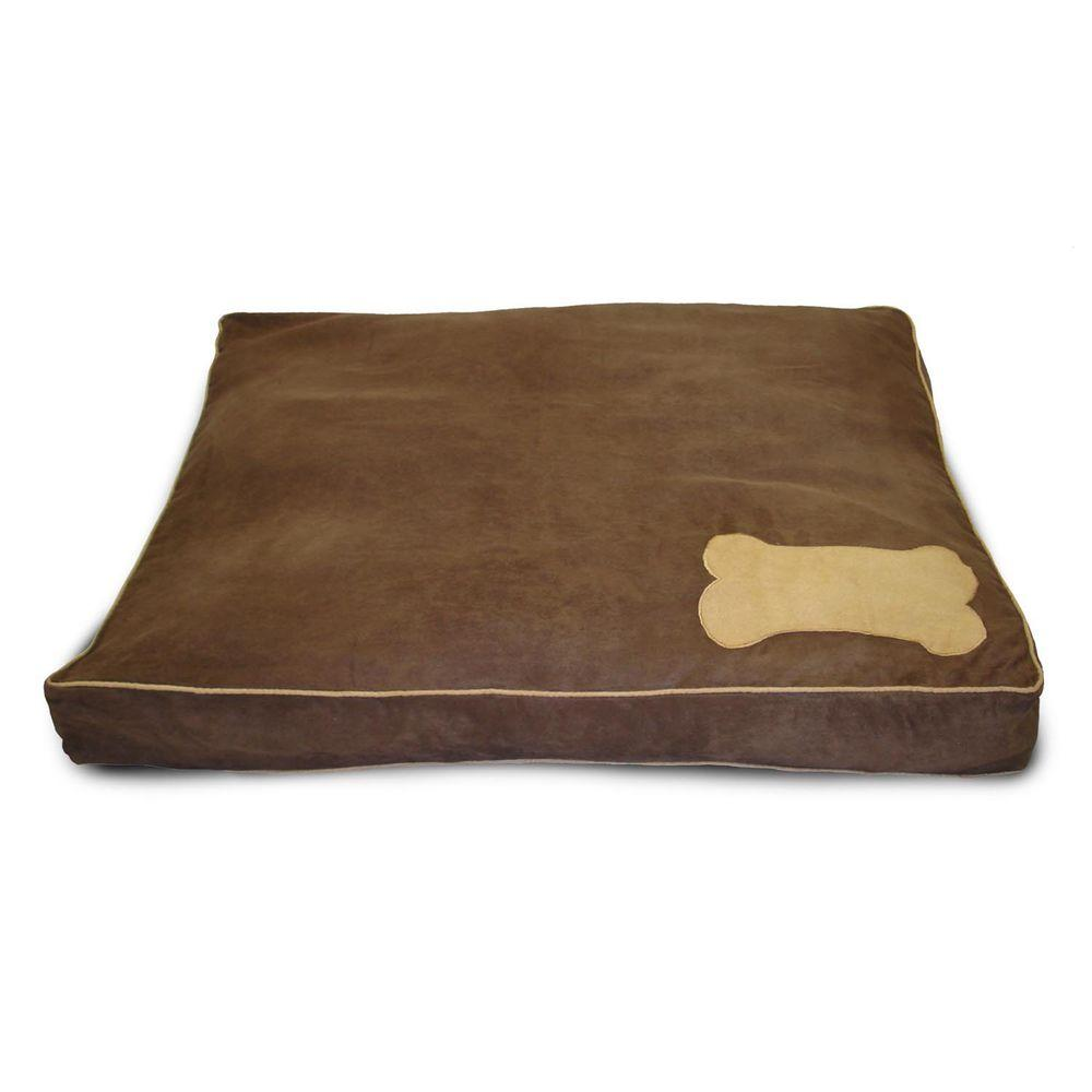 Home Fashions International Ultima Suede Chocolate with Deer Pet Bed