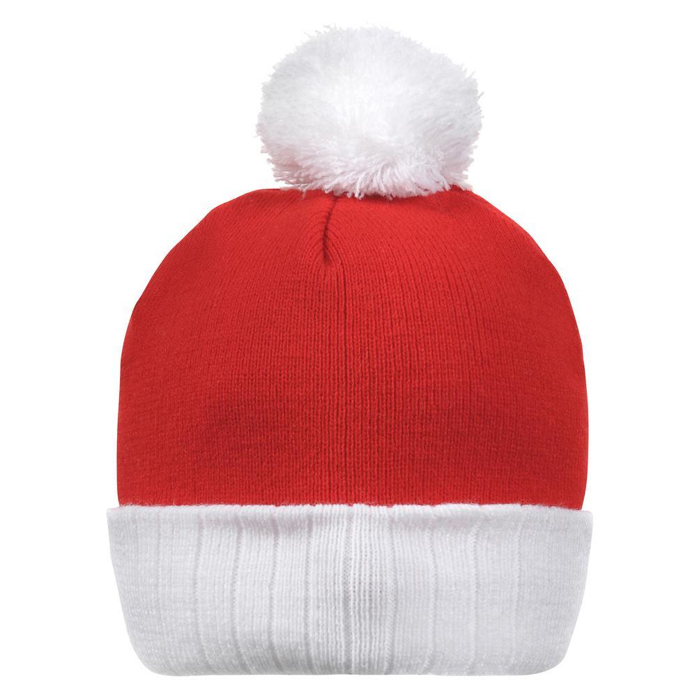 11 in. x 8 in. Santa Christmas Knit Ski Hat (2-Pack)