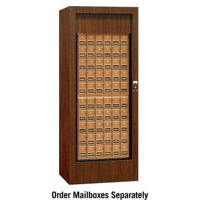 3150 Series USPS Brass Style Rotary Mail Center in Walnut
