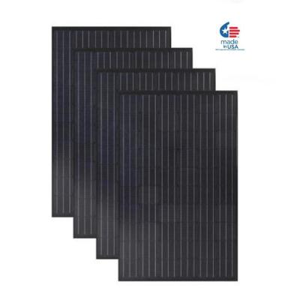 4-Pack Grape Solar 300-Watt Monocrystalline Solar Panel