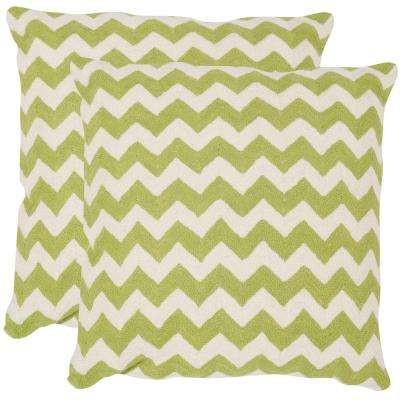 Striped Tealea Chainstitch Pillow (2-Pack)