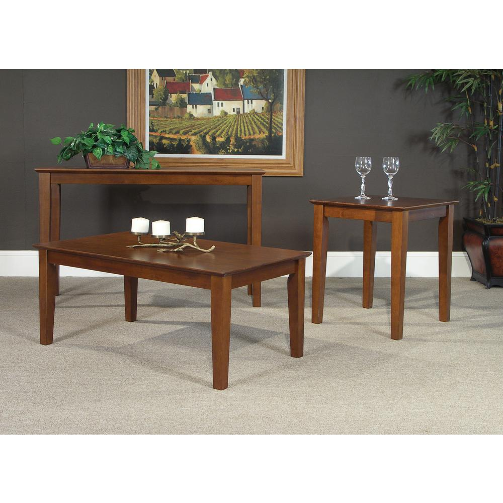 International Concepts Shaker Espresso Console Table-OT581-700332 - The Home Depot