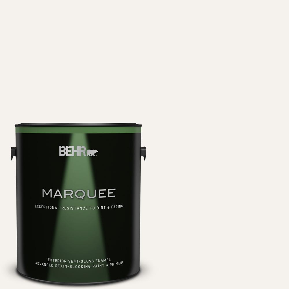 Reviews For Behr Marquee 1 Gal Pr W14 Bit Of Sugar Semi Gloss Enamel Exterior Paint Primer 545001 The Home Depot