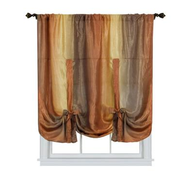 Ombre 50 in. W x 63 in. L Polyester Light Filtering Window Panel in Autumn