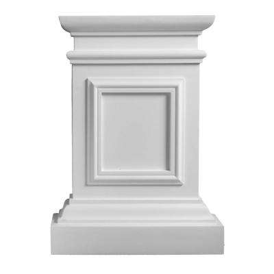 5-1/2 in. x 23-5/8 in. x 31-5/8 in. Plain Polyurethane Plinth Base for Pilaster