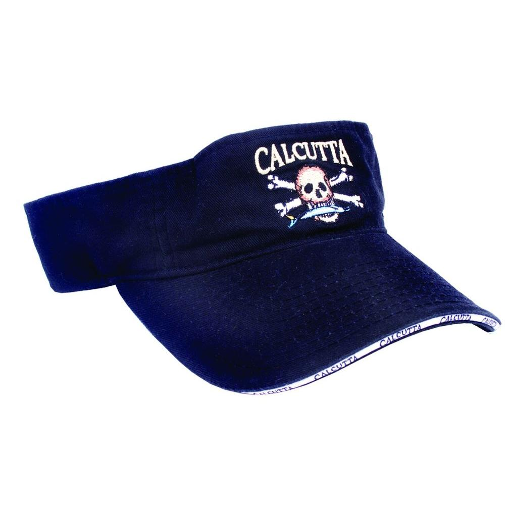 Adjustable Strap Low Profile Visor in Royal Black with Fade-Resistant Logo