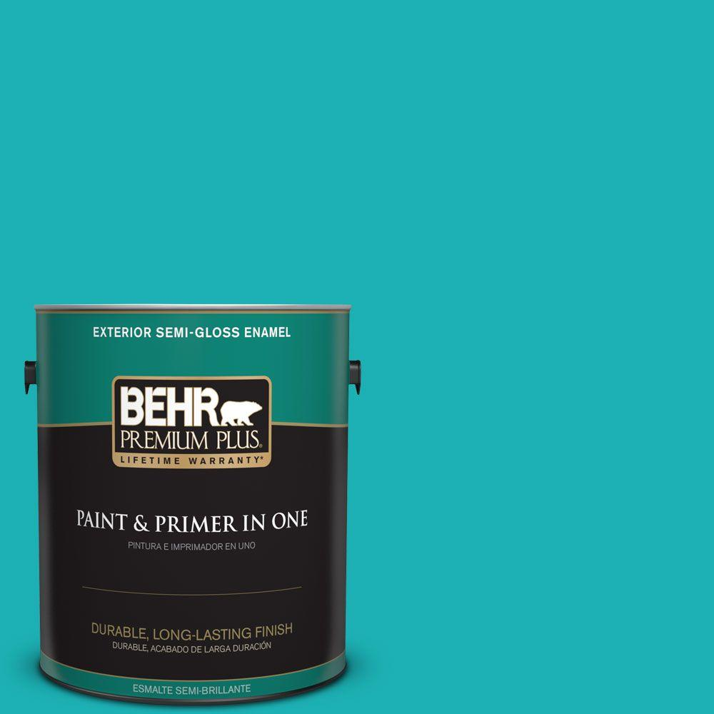 1 gal. #HDC-SP16-06 Larkspur Blue Semi-Gloss Enamel Exterior Paint