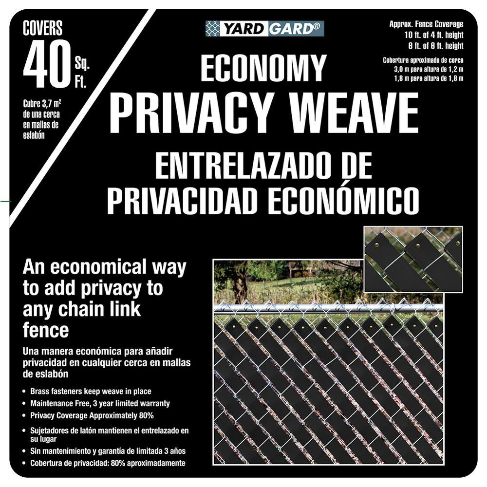 Yardgard 4 Ft H X 250 Ft W Black Economy Vinyl Fence