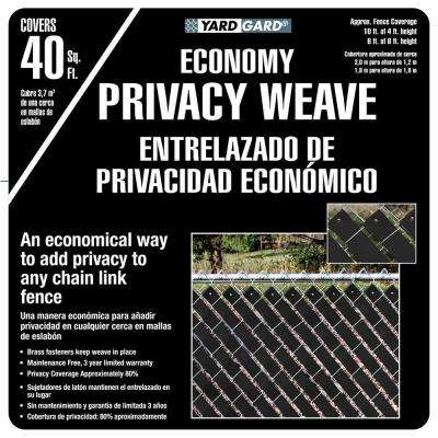 4 ft. H x 250 ft. W Black Economy Vinyl Fence Panel Weave